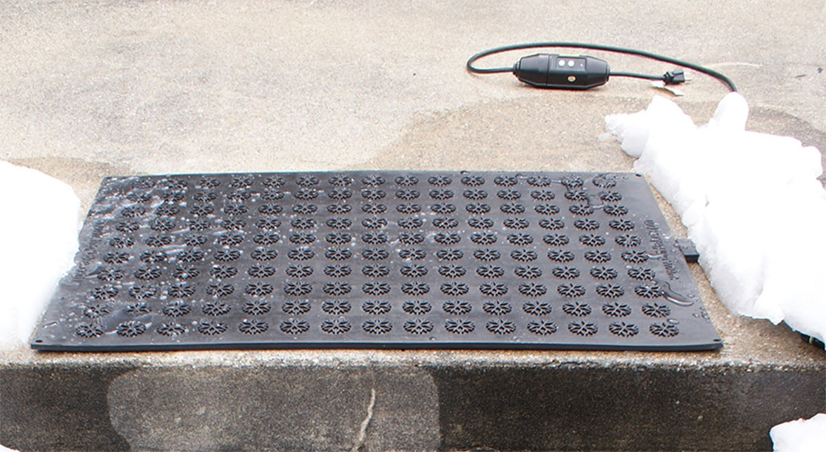 Snow meliting doormats for Best doormat for snow
