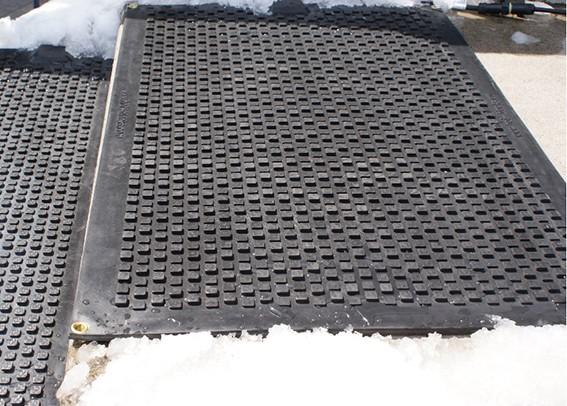 Industrial heated doormats snow melting doormats heavy for Best doormat for snow