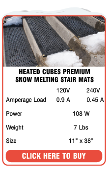 ... Heated Cubes Snow Melting Stair Mats