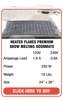 Heated Flakes Snow Melting Doormat