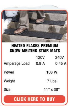 Heated Flakes Snow Melting Stair Mats