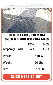 Heated Flakes Snow Melting Walkway Mat